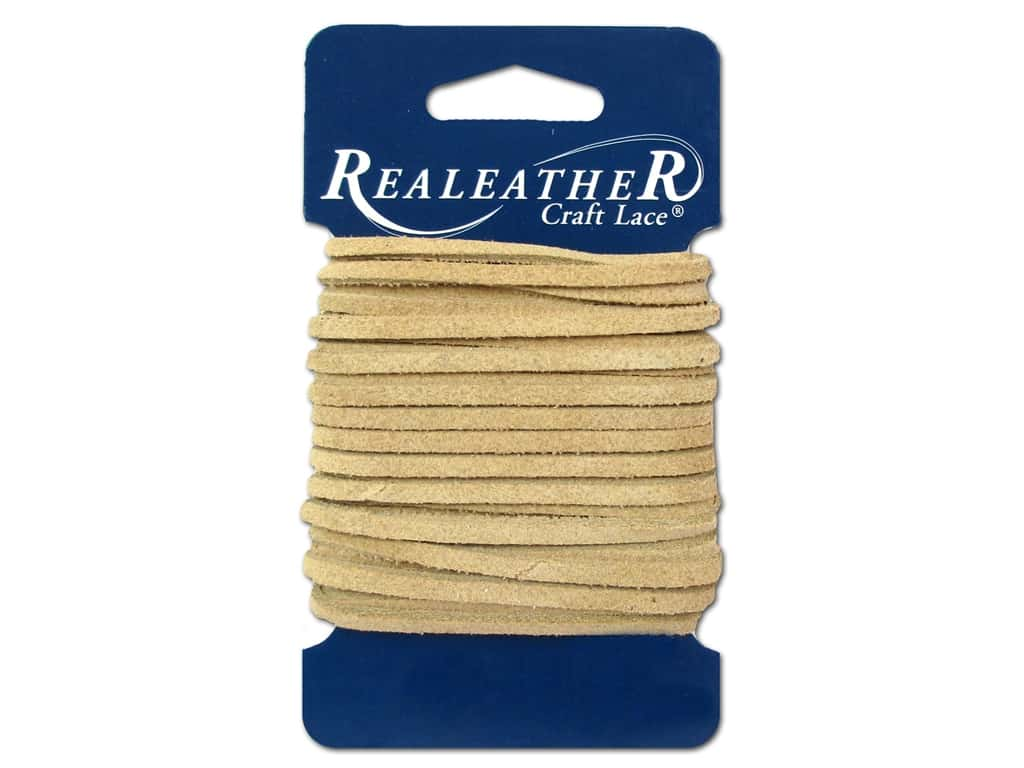 Silver Creek Suede Lace 1/8 in. x 8 yd. Beige
