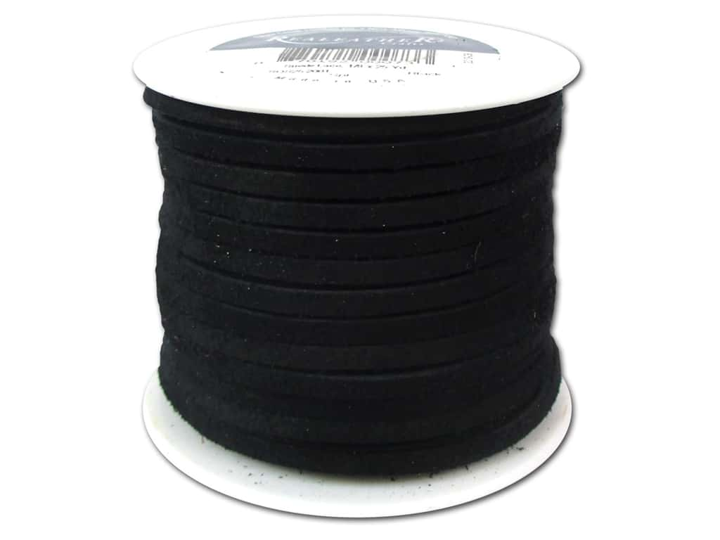 Silver Creek Suede Lace 1/8 in. x 25 yd. Black