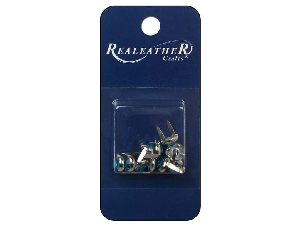 Silver Creek Jewel Spots 3/8 in. Turquoise 10 pc.