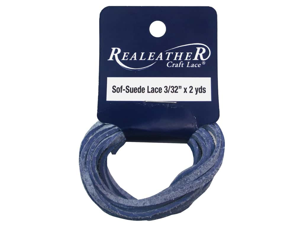 Silver Creek Soft Suede Lace 3/32 in. x 2 yd. Light Blue