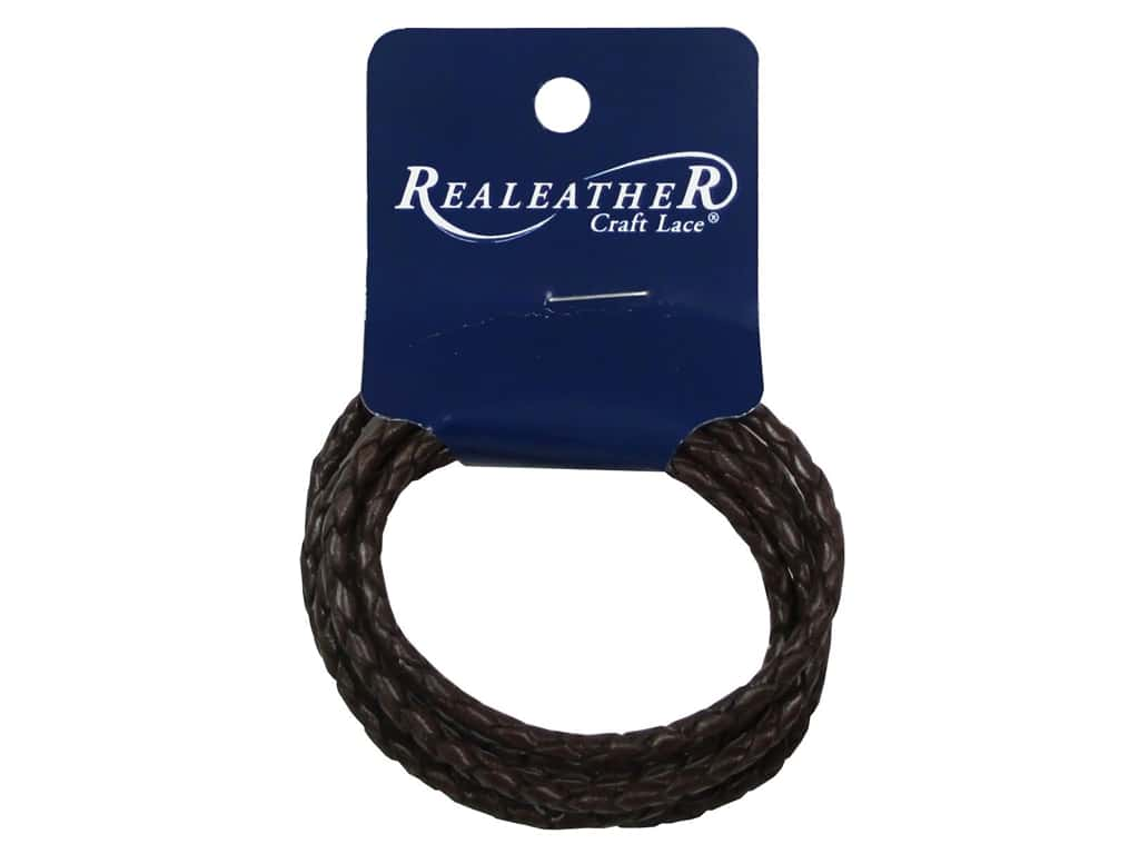 Silver Creek Leather Lace Braided 3 mm x 40 in. Chocolate