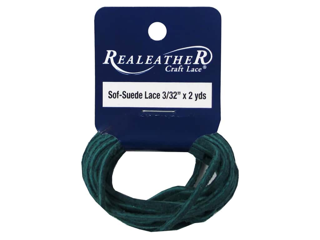 Silver Creek Soft Suede Lace 3/32 in. x 2 yd. Pacific Green