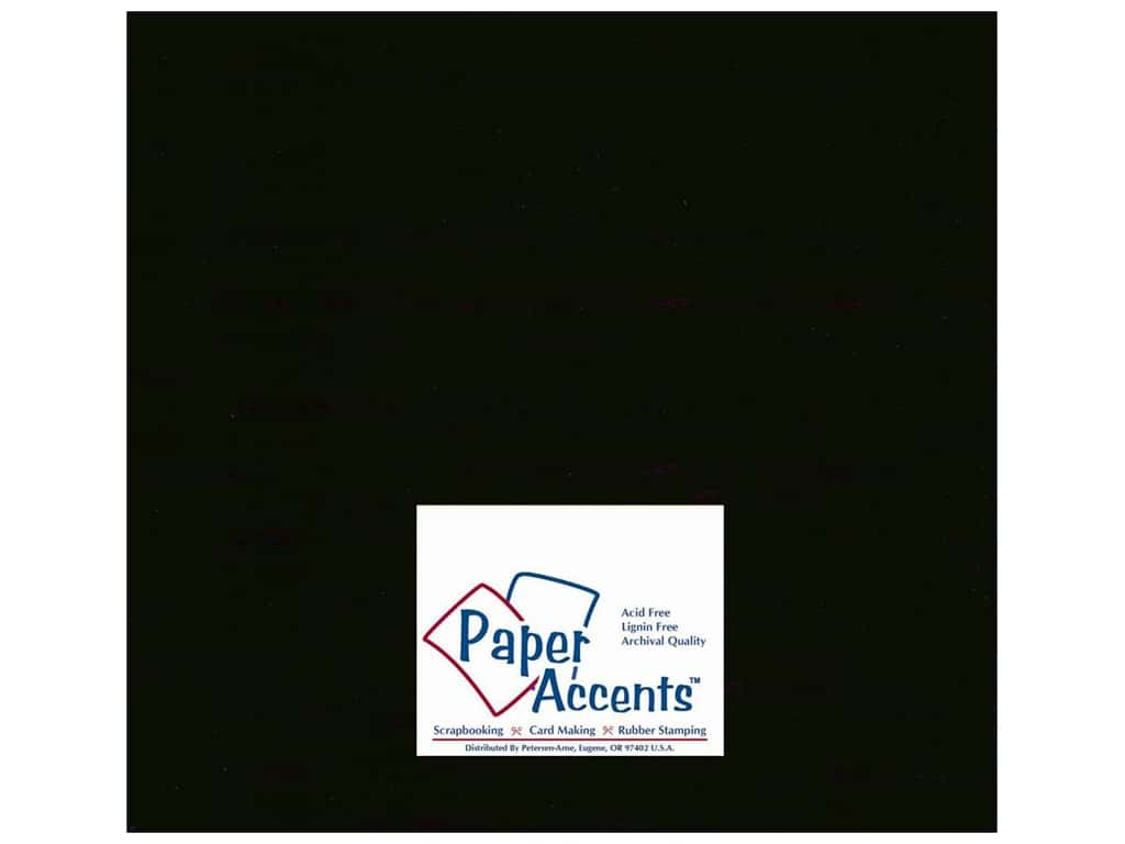 Paper Accents Cardstock 12 x 12 in. #10067 Stash Builder Ebony (25 sheets)