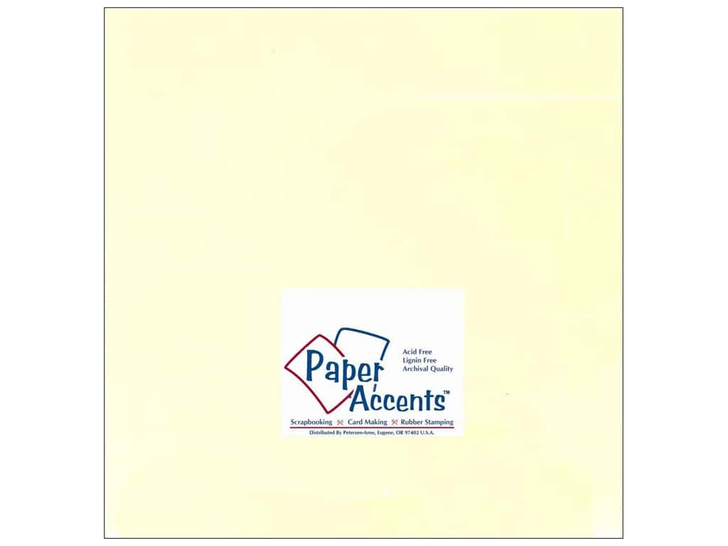 Paper Accents Cardstock 12 x 12 in. #122 Smooth Ivory (25 sheets)