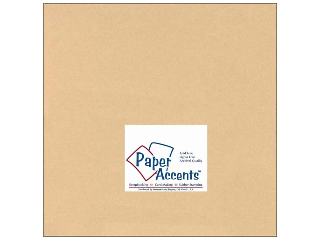 Paper Accents Cardstock 12 x 12 in. #126 Smooth Tan (25 sheets)