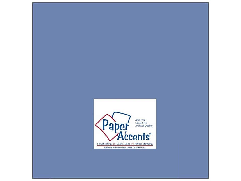 Paper Accents Cardstock 12 x 12 in. #140 Smooth Persian Blue (25 sheets)