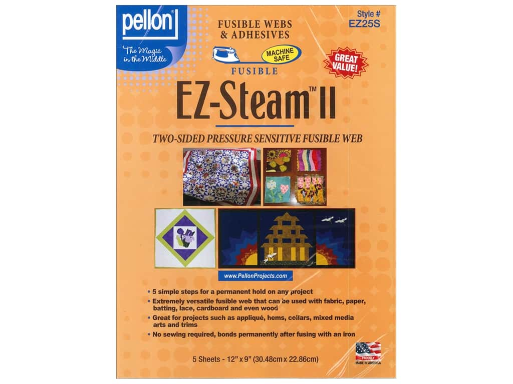 Pellon Ez Steam Ii Fusible Web 12 X 9 In 5 Pc