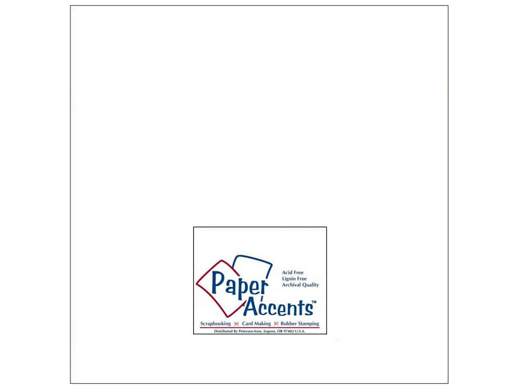 Paper Accents Cardstock 12 x 12 in. #201 Parchment White 25 pc.