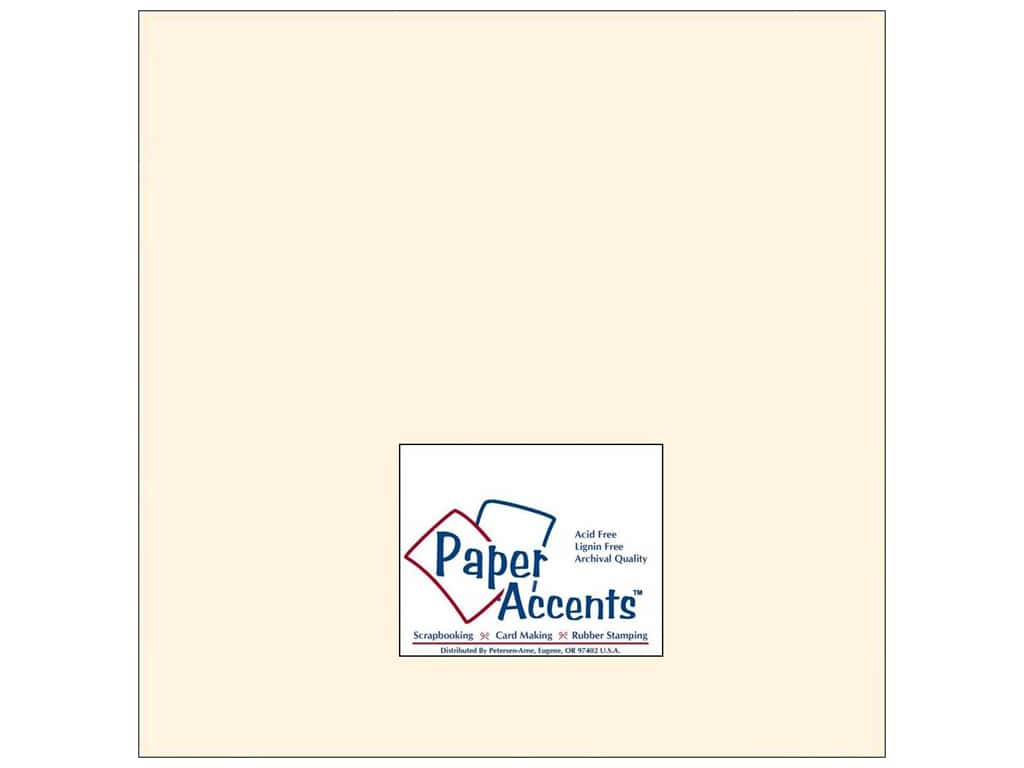 Paper Accents Cardstock 12 x 12 in. #202 Parchment Cream 25 pc.