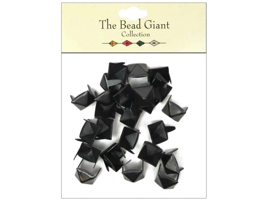 The Bead Giant Collection Nailhead Pyramid 3/8 in. Black 26 pc.