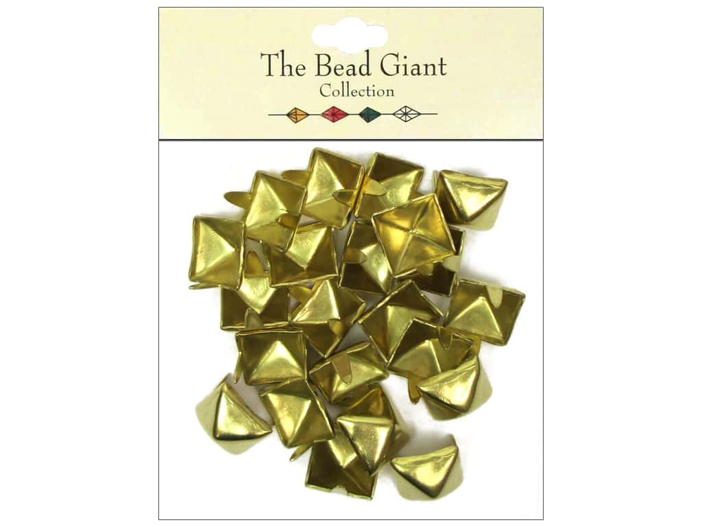 The Bead Giant Collection Nailhead Pyramid 1/2 in. Gold 22 pc.