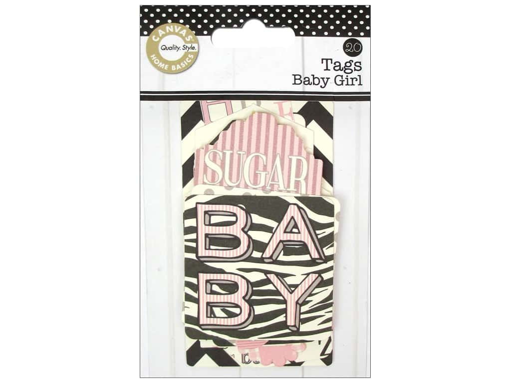 Canvas Corp Printed Tags Baby Girl