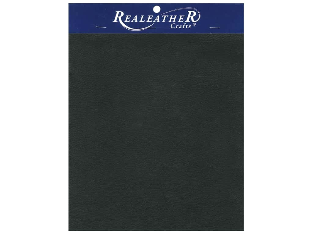 "REALEATHER by Silver Creek Leather Premium Trim Piece 8.5""x 11"" Card Black"