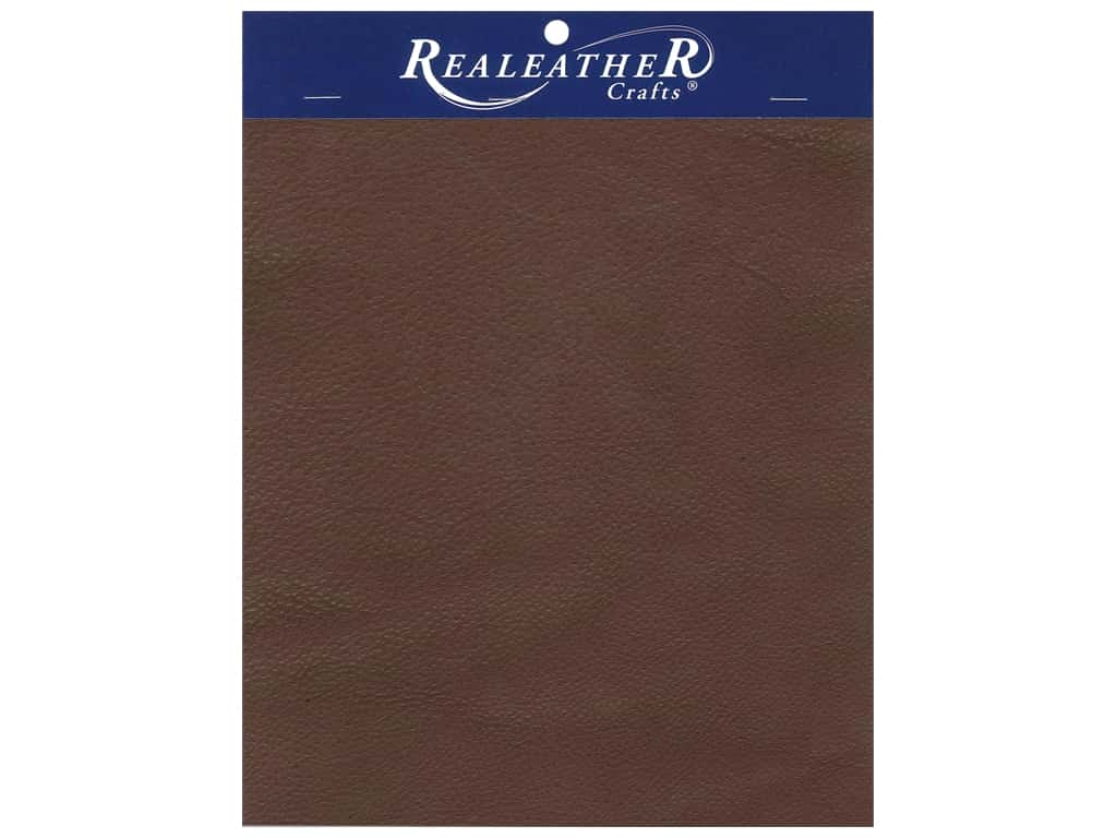 """REALEATHER by Silver Creek Leather Premium Trim Piece 8.5""""x 11"""" Card Brown"""