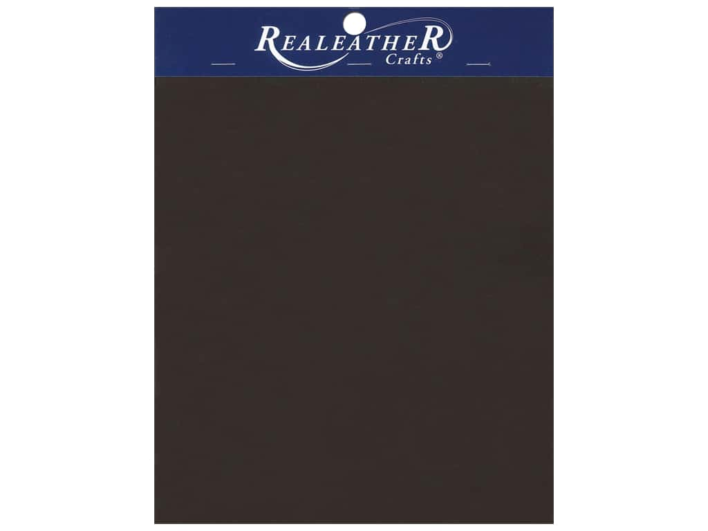 """REALEATHER by Silver Creek Leather Triumph Trim Piece 8.5""""x 11"""" Card Brown"""