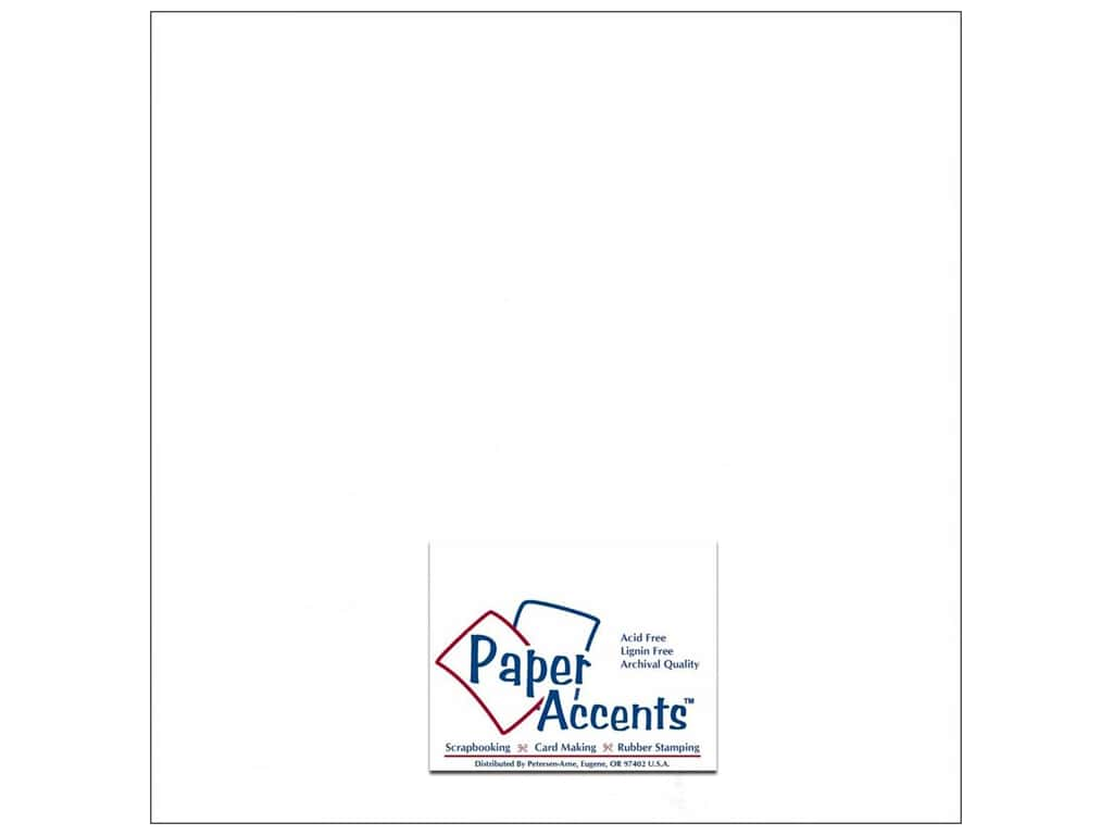 Paper Accents Cardstock 12 x 12 in. Glossy White 25 pc.