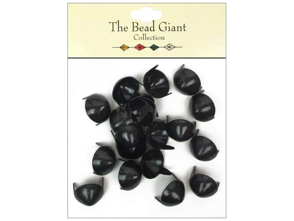 The Bead Giant Collection Nailhead Cone 1/2 in. Black 20 pc.