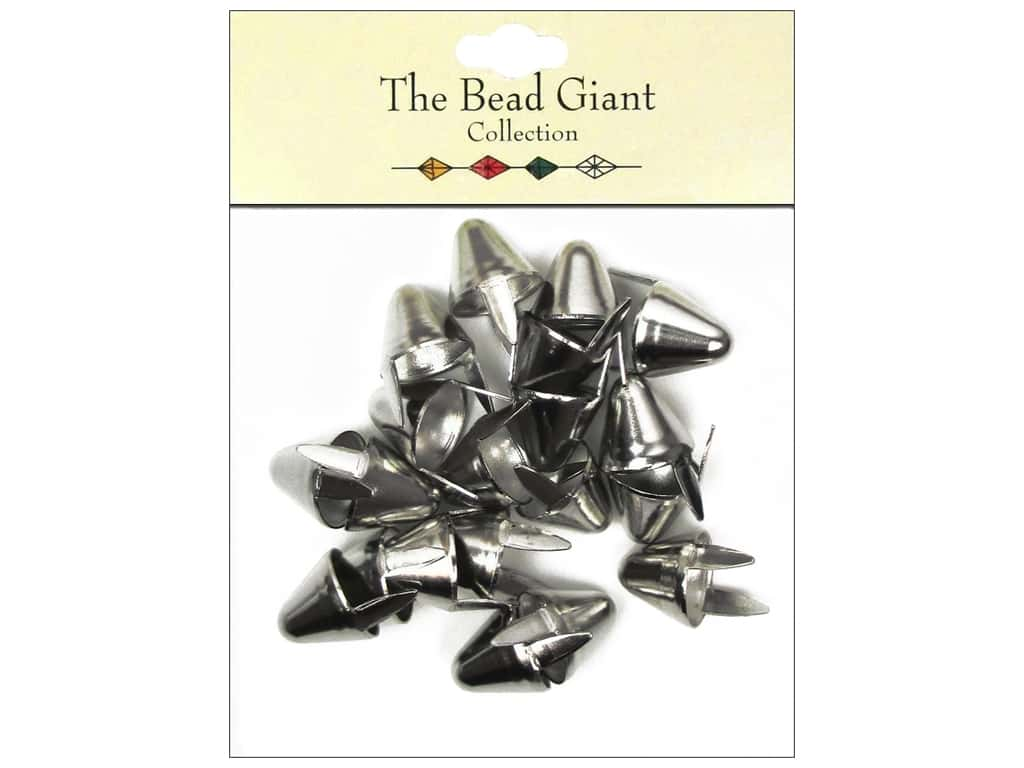 The Bead Giant Collection Nailhead Spike Large Silver 20 pc.