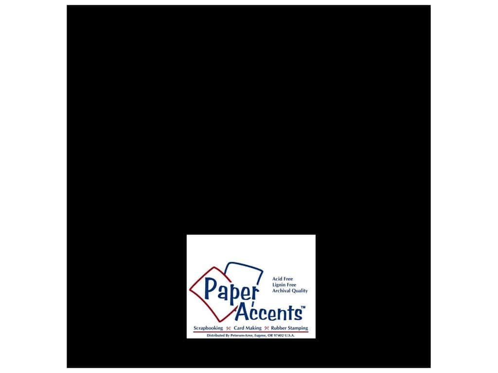 Paper Accents Cardstock 12 x 12 in. Glossy Black