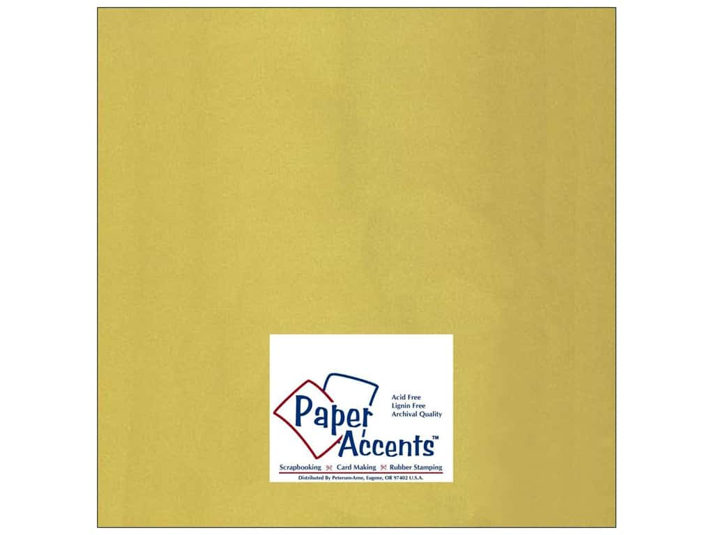 Paper Accents Cardstock 12 x 12 in. Glossy Gold 25 pc.