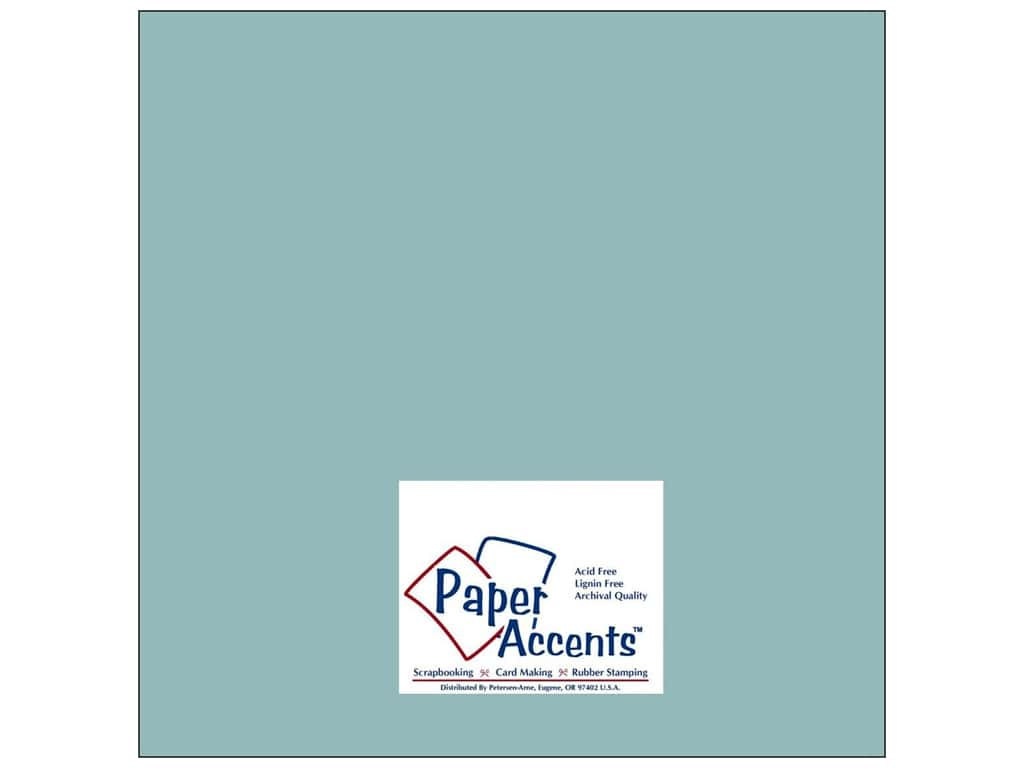 Paper Accents Cardstock 12 x 12 in. #8042 Muslin Evening Surf 25 pc.