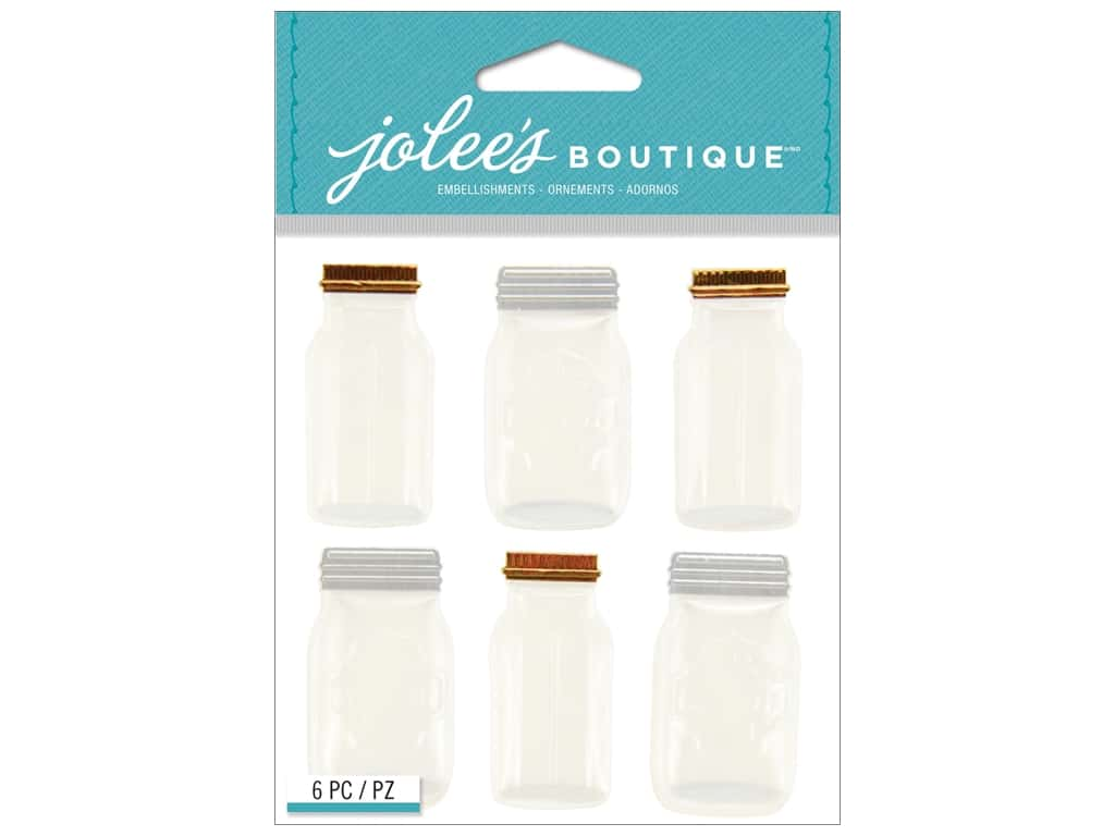 Jolee's Boutique Stickers Mason Jar Repeat