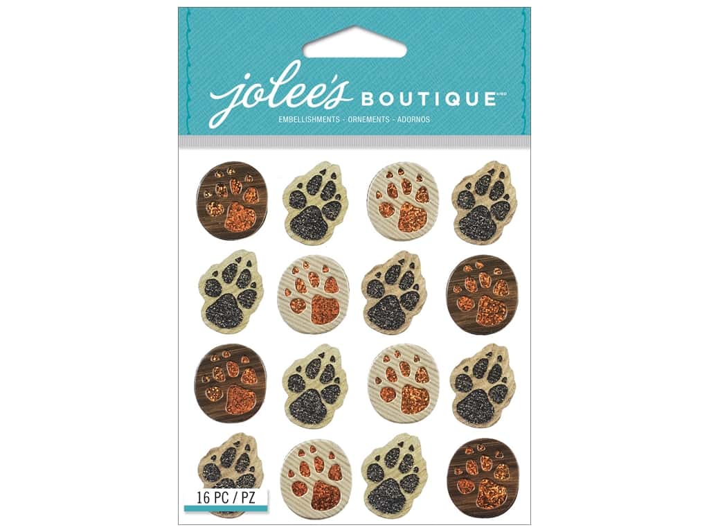 Jolee's Boutique Stickers Animal Tracks Repeats