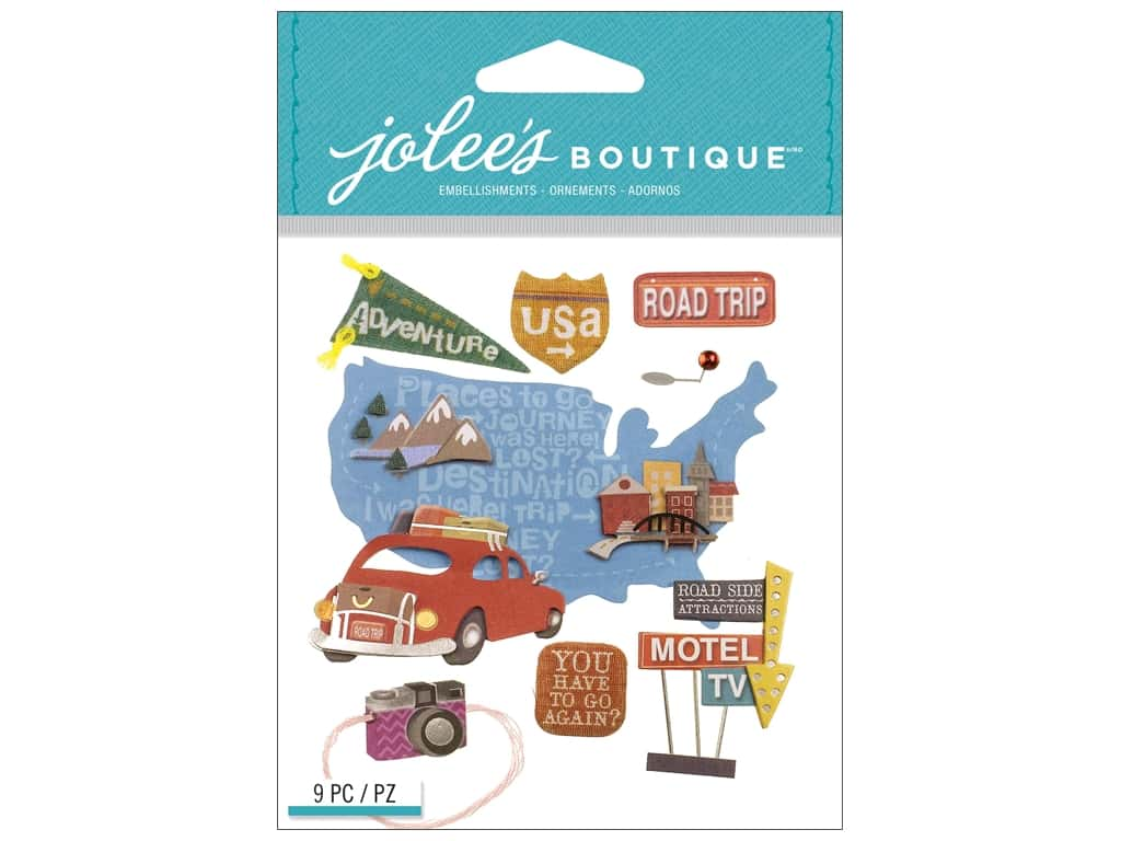 Jolee's Boutique Stickers Road Trip