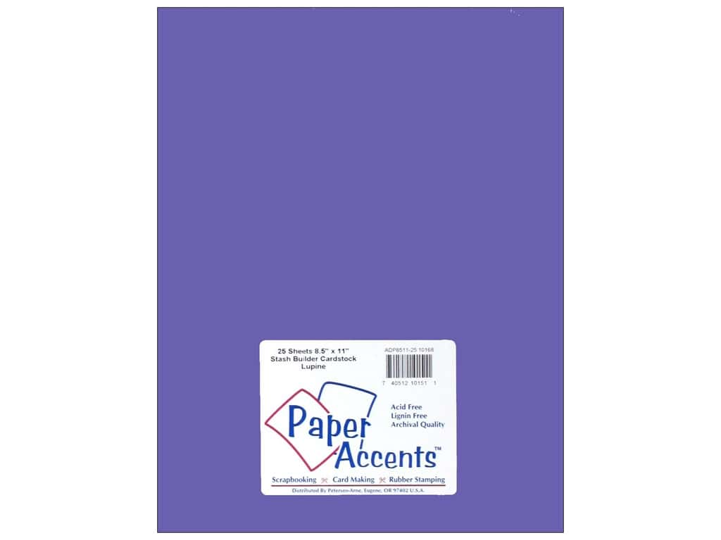 Paper Accents Cardstock 8 1/2 x 11 in. #10168 Stash Builder Lupine 25 pc.