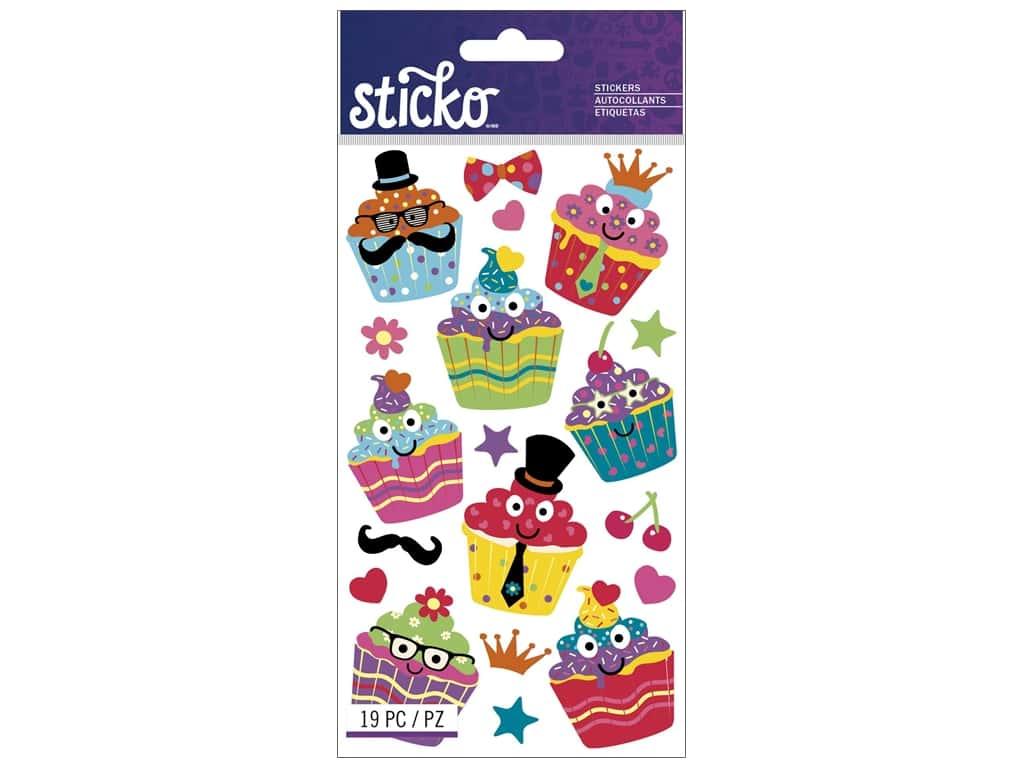 EK Sticko Stickers Dress-Up Cupcakes