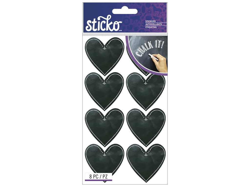Sticko Stickers - Chalk Hearts