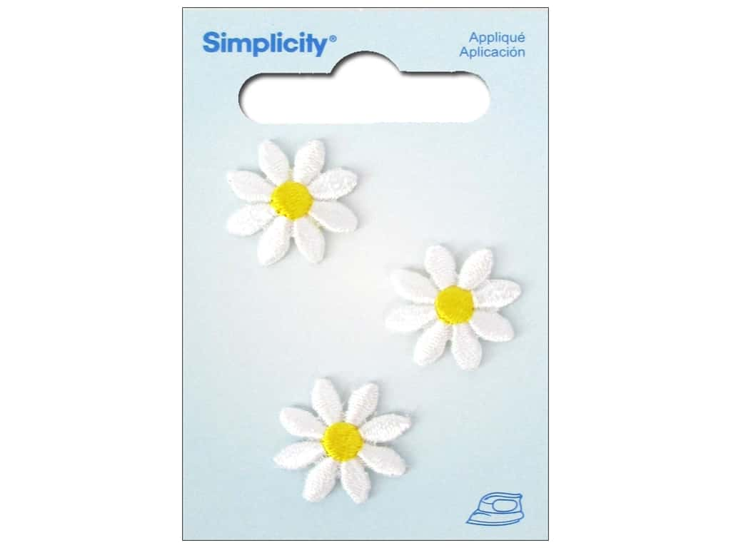 Simplicity Iron On Applique Small Daisies