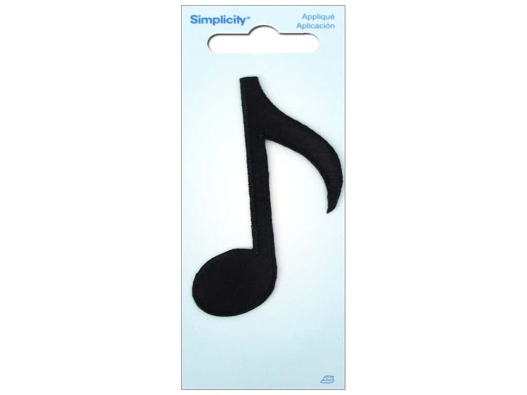 Simplicity Iron On Applique Musical Note