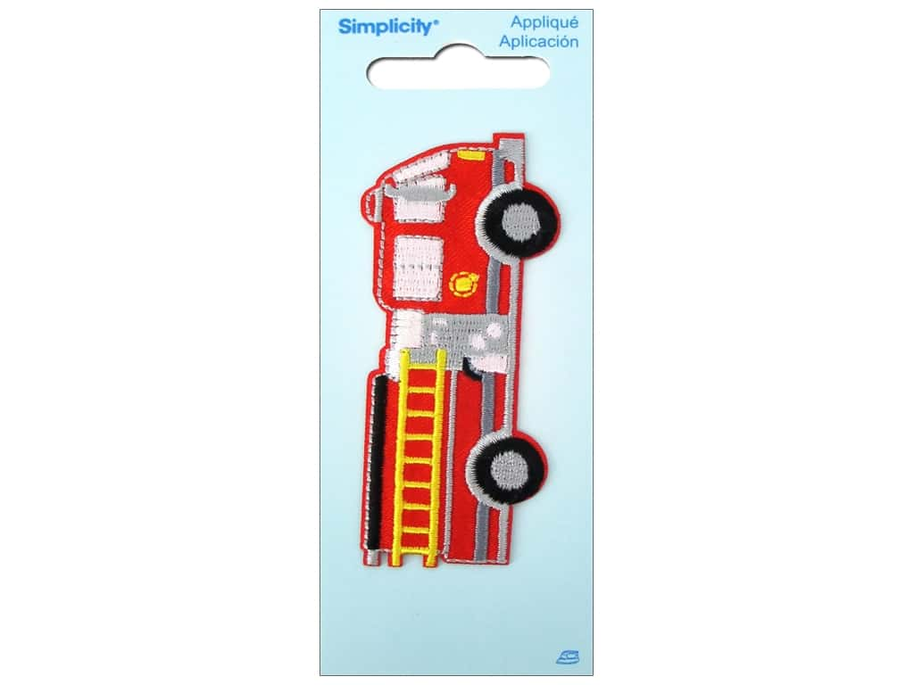 Simplicity Iron On Applique Large Fire Truck