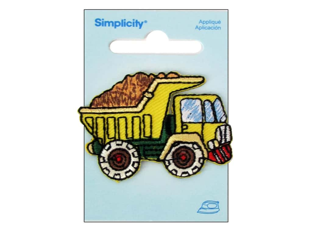 Simplicity Iron On Applique Dump Truck