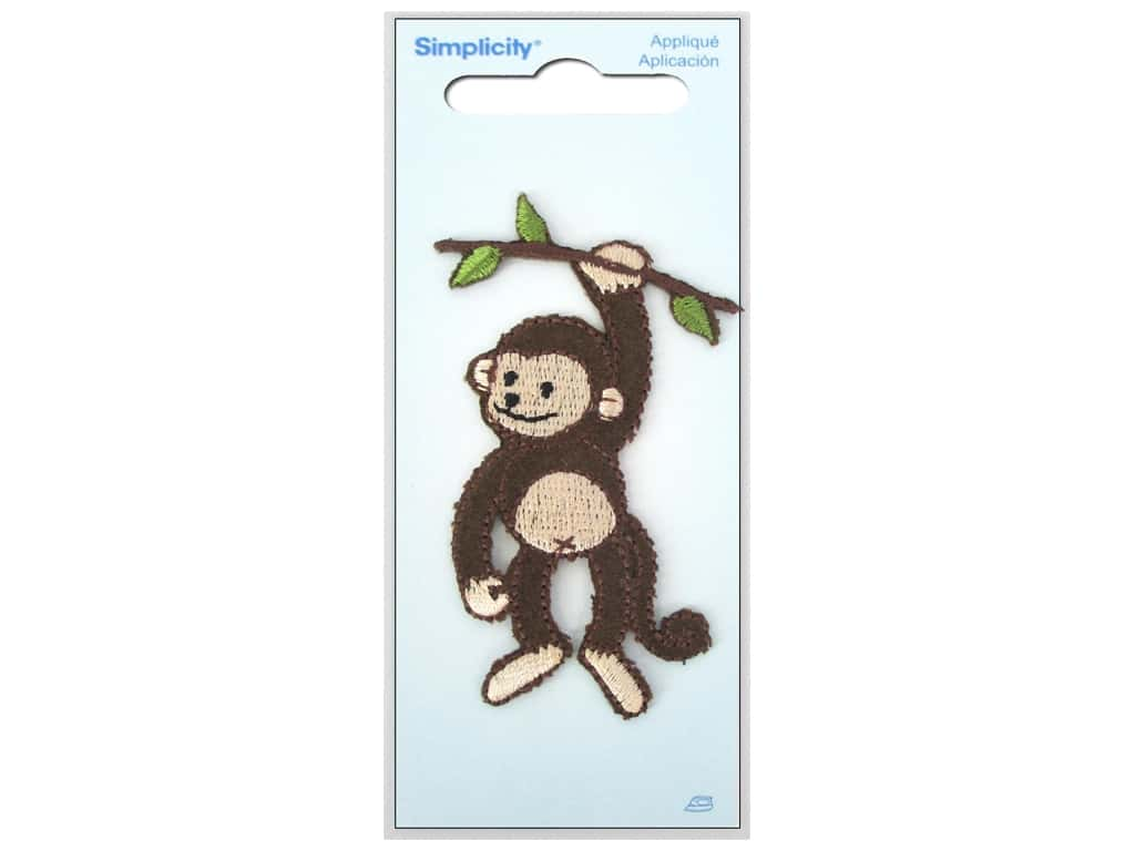Simplicity Applique Iron On Monkey