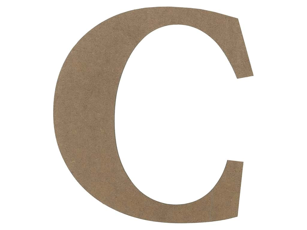 Sierra Pacific Decor MDF Letter 9.45 in. C