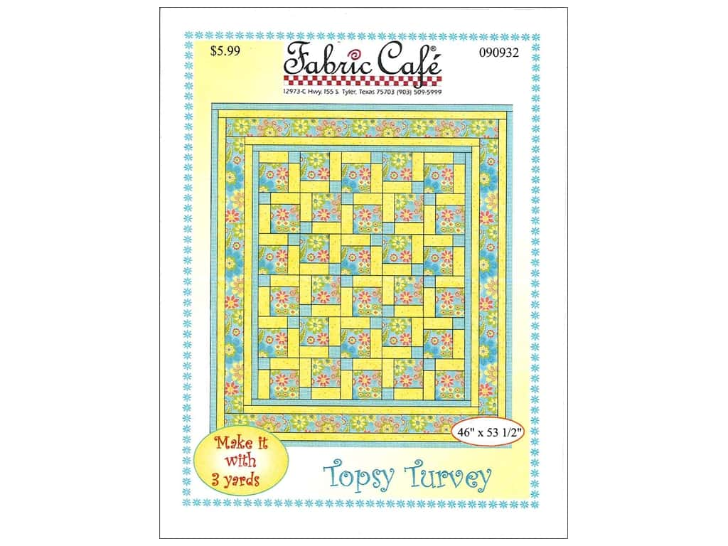 Fabric Cafe Topsy Turvey 3 Yard Quilt Pattern