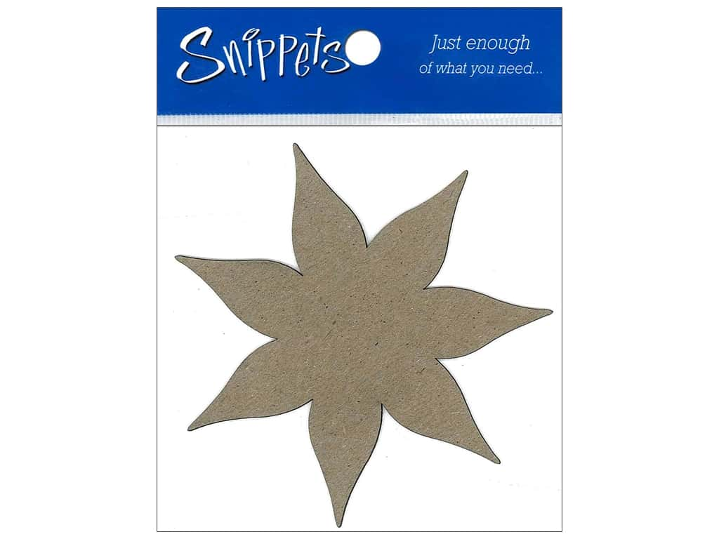 Paper Accents Chipboard Shape Poinsettia 3 pc. Natural