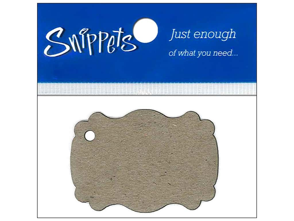 Paper Accents Chipboard Shape Marquee #1 Tag 4 pc. Natural