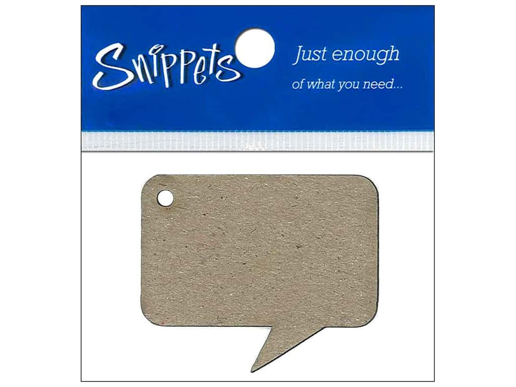 Paper Accents Chipboard Shape Caption Tag 4 pc. Natural
