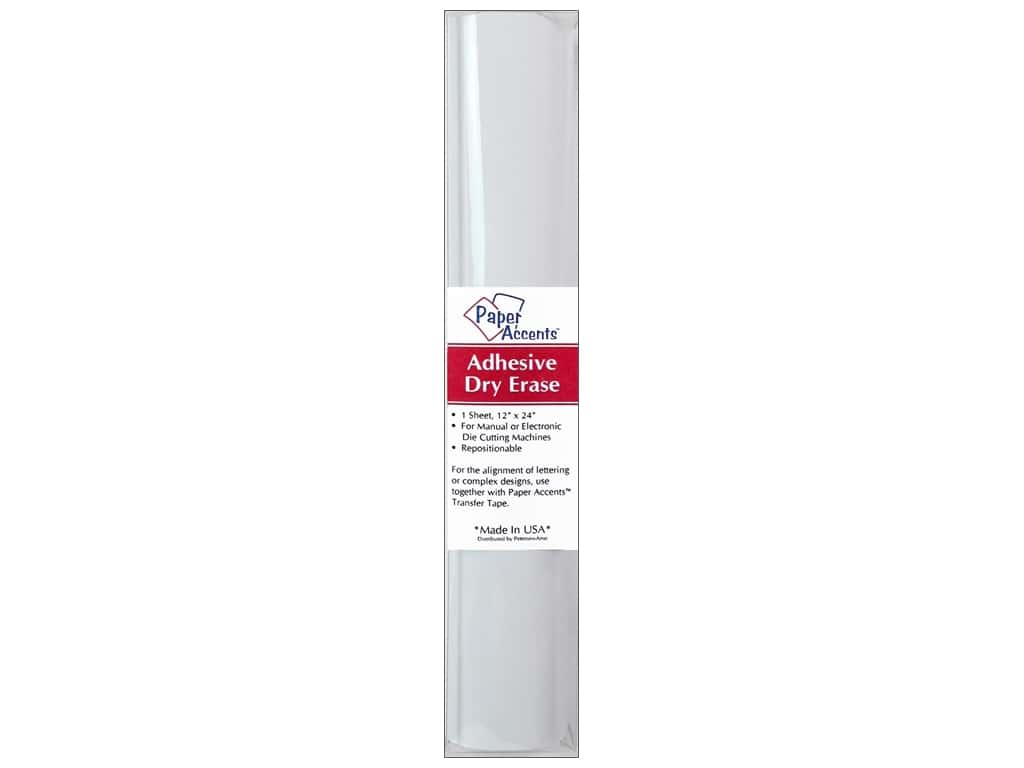 Paper Accents Adhesive Vinyl 12 x 24 in. Removable Dry Erase White 1 pc.