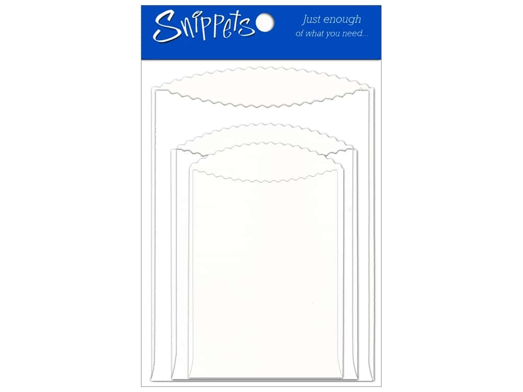 Paper Accents Pocket Assorted Sizes 3 pc. White