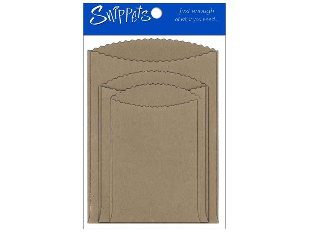 Paper Accents Pockets Assorted Sizes Brown Bag 3 pc.