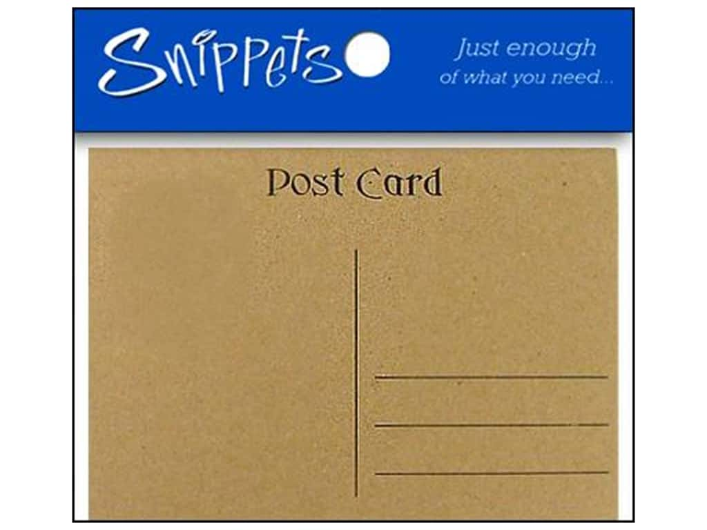 Post Cards by Paper Accents 4 1/4 x 5 1/2 in. Brown Bag 5 pc.