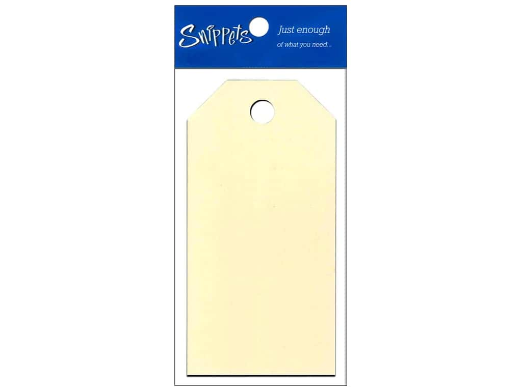 Craft Tags by Paper Accents 1 5/8 x 3 1/4 in. 10 pc. Manila