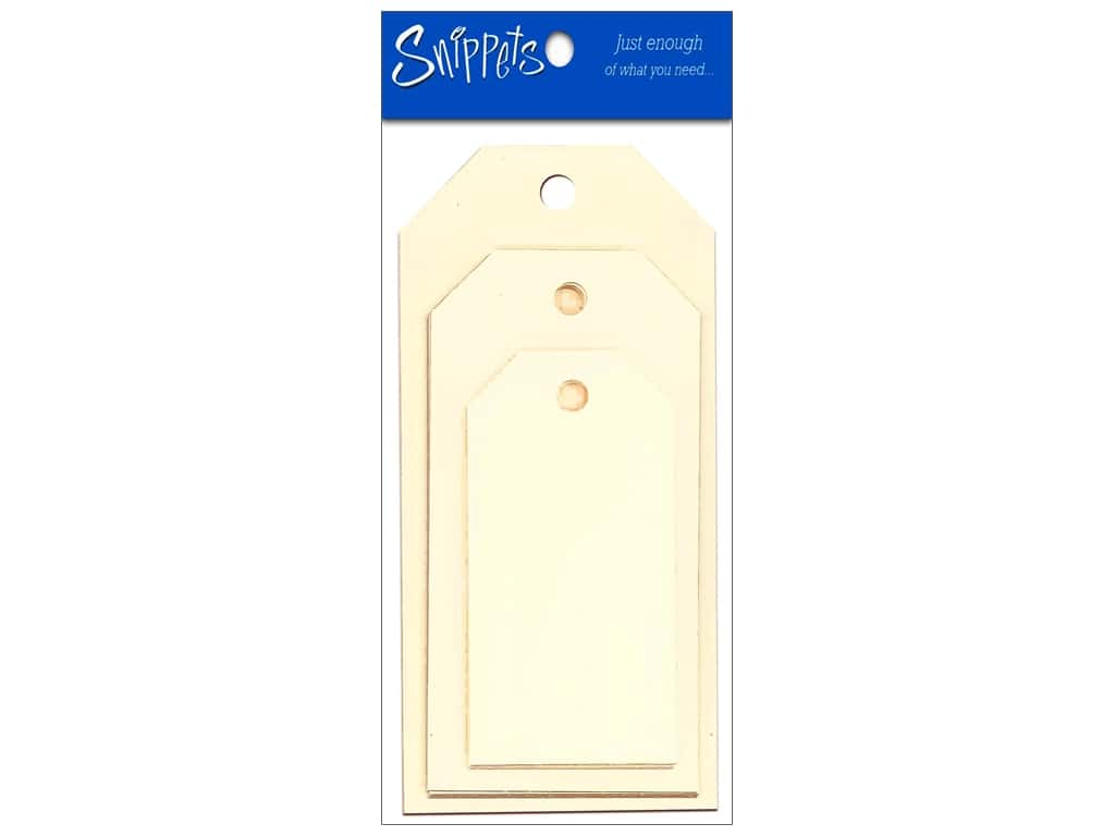 Craft Tags by Paper Accents Assorted Sizes 6 pc. Manila