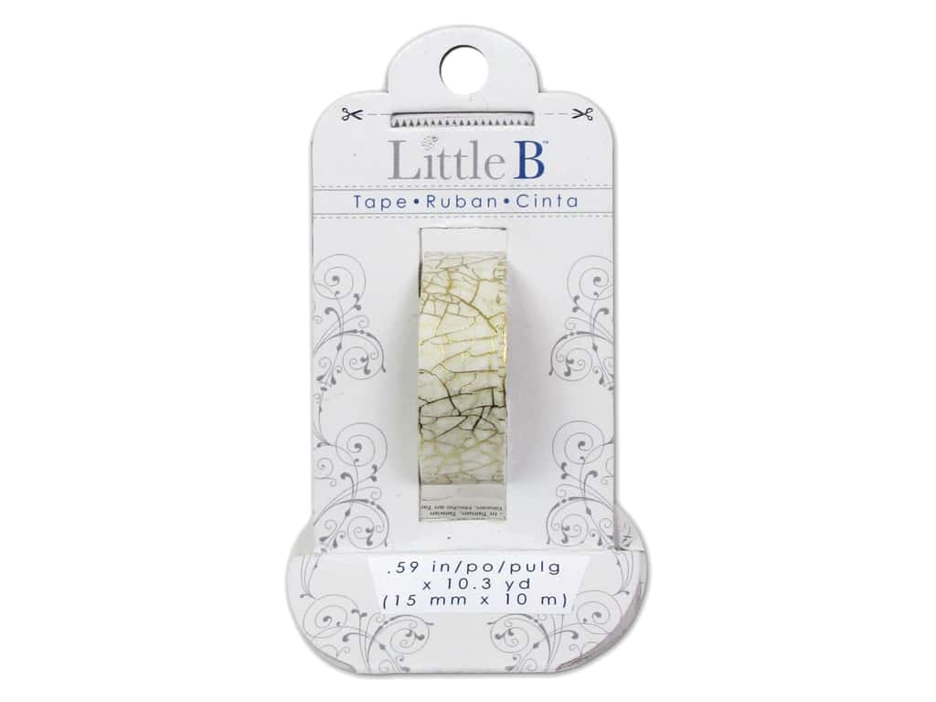 Little B Decorative Paper Tape 5/8 in. Gold Foil Crackle