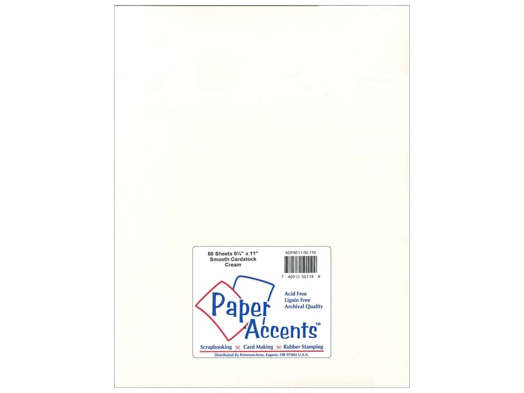 Paper Accents Cardstock 8 1/2 x 11 in. #119 Smooth Cream 50 pc.