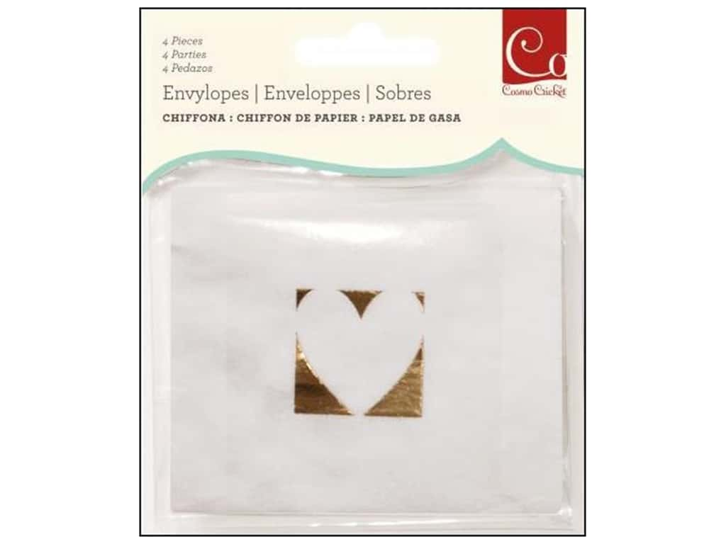 Cosmo Cricket Embellishment Envelopes Chiffona